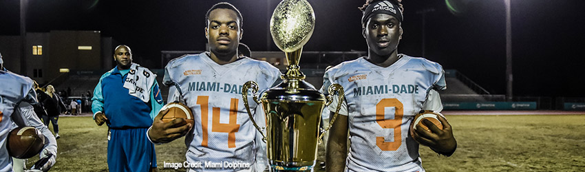Dade Takes Win Over Broward in Miami Dolphins Junior Dolphins Dade vs 5