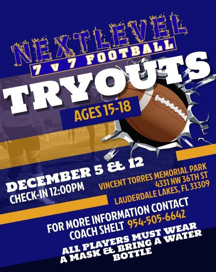 Next Level 7v7 Football Tryouts
