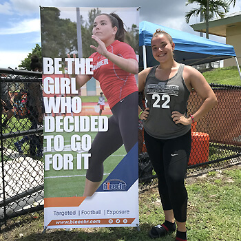 Ground-Breaking Female Football Combine A Huge Hit