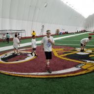 Kyle at Ryan Kerrigan Redskins Camp